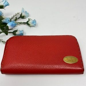 Preowned Authentic Red Fendi Wallet